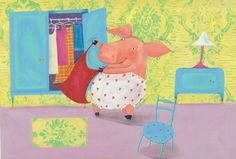Barbara Vagnozzi Illustration - barbara vagnozzi, painted, acrylic, commercial, picture book, animals, pigs