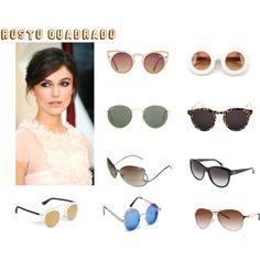 rosto quadrado - tipo de oculos gicatanho by giselecatanho on Polyvore featuring moda, Illesteva, Ray-Ban, Wildfox, Quay, D&G and Oakley