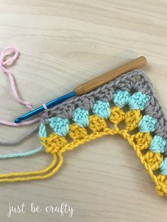 Granny Ripple Tutorial; Simple tutorial by Just Be Crafty
