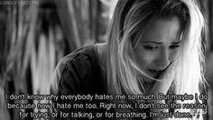 I've felt like this before :/ #cyberbullied