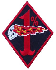 """Amazon.com: [Single Count] Custom and Unique (3 x 4 Inch) """"Biker"""" Flaming Skull Outlined Diamond One Percent Iron On Embroidered Applique Patch {Red, Black and White Colors}"""