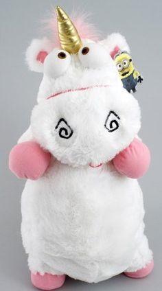 """Amazon.com: 2013 Universal Despicable Me 3D Ride Agnes Fluffy Unicorn Pillow Plush Large 22"""" Size: Toys & Games"""