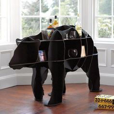 Bear furniture bathroom shelf. Such luxury.
