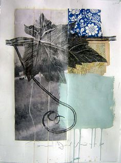 Vine by Tom Judd -  pencil and acrylic on collage on paper , 30 x 22 , 2007