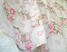 sweet shabby chic cottage rag  quilt