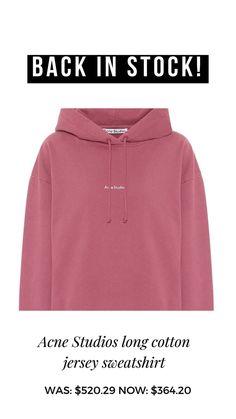 Sale! Studio Logo, Acne Studios, Hoodies, Cotton, Studio, Sweatshirts, Hoodie, Hooded Sweatshirts