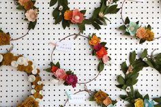 Custom Felt Wreath by TheFeltFlowerShop on Etsy
