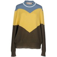 Marni Jumper (29.715 RUB) ❤ liked on Polyvore featuring tops, sweaters, yellow, pure cashmere sweaters, brown cashmere sweater, jumpers sweaters, long sleeve jumper and extra long sleeve sweater