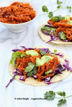 Pulled Butternut Squash Tacos. Vegan Glutenfree Recipe | Vegan Richa