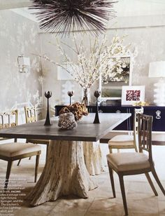 That table! So gorgeous! I'd probably want the tabletop to be white or gray though.