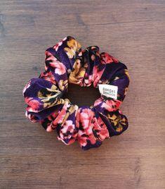 Velvet Floral Scrunchie Love Hair, Great Hair, Scarf Hairstyles, Cute Hairstyles, Lemon Hair, Purple Peonies, Floral Hair, Vintage Hairstyles, Hair Ties