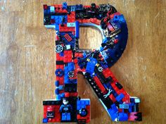 Custom toy brick wall letter.