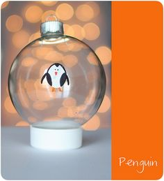 thumbprint Christmas ornaments. Sweet craft idea. penguins, owls, porcupines, etc.