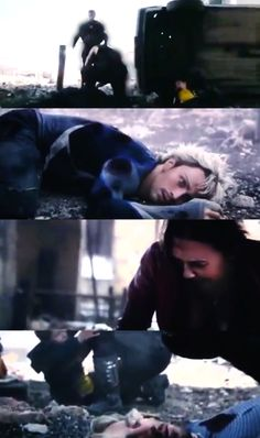 The aftermath of Ultron's attack // Age of Ultron // Ultron // Maximoff Twins // Pietro and Wanda Maximoff //