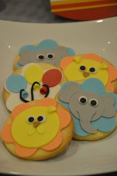 Biscotti tema circo. Carnival's cookies design