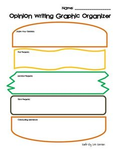 Graphic Organizers For Writing A Paragraph