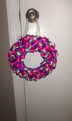 Loop wreath... took about 5 yards of 3 colors!!