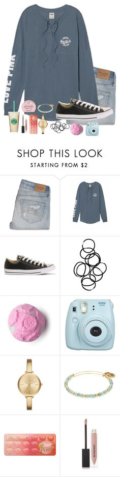"""""""Untitled #78"""" by torideckerrr ❤ liked on Polyvore featuring Abercrombie & Fitch, Victoria's Secret, Converse, Monki, Fujifilm, Michael Kors, Alex and Ani, Too Faced Cosmetics, Burberry and Sephora Collection"""