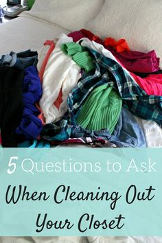 Doing some spring cleaning while cleaning out your closet? Here are some questions to ask yourself to help you figure out what to keep and what needs to go!