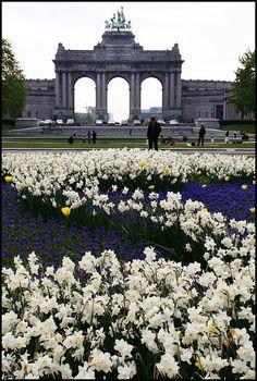 Arcs des Triomphe in Cinquantenaire Park, Brussels, Belgium. Built to celebrate Belgium's full independence.