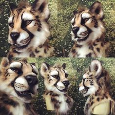 """latinvixen: """"I loved working on this project. Big cats are a pleasure to make and hope to do more in the future. Resin head base, taxidermy glass eyes, moving jaw and vision out the eye ducts. Easy to wear, see and breathe. Part of a full costume..."""