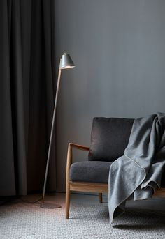 Pine is a decorative series in an industrial design that creates a nice contrast to the bright Nordic interior style. Pine gets a unique character and an innovative light experience with the small holes in the top and side of the shade, creating a beautiful effect when the light is spreading out into the room. #Living Room #Interior Design #Inspiration #Décor Ideas #Nordic #Danish Design #Scandinavian #Modern #Industrial #Floor Lamp #Lighting Nordic Home, Nordic Interior, Interior Styling, Room Interior, Living Spaces, Living Room, Nordic Design, Interior Design Inspiration, Design Ideas