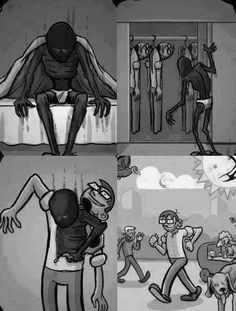 Sometimes we pretend that we are happy...  And this is sad.
