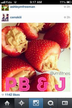 Mouth Watering Fresh StrawBerries Filled With Rich Creamy Lousous Peanut Butter,  Fun Party Food Too!!!