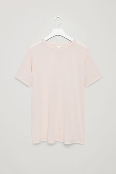 COS image 4 of Relaxed kimono-sleeve t-shirt in Light Beige