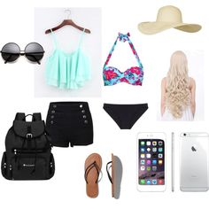 day at the beach by lover-for-fashion-and-cats on Polyvore featuring polyvore fashion style John Lewis Araks Abercrombie & Fitch Sherpani Topshop