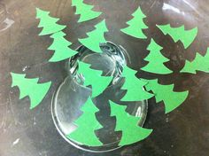 Christmas Tree Confetti by JellyBeanPaper on Etsy, $3.00