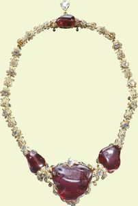The 'Tibur Ruby' necklace was made for Queen Victoria by R. & S. Garrard & Co. in 1853