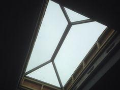 Glass rooflight internal view at Devon Studio.