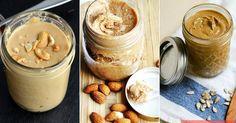 Recept na domácí ořechová másla Raw Food Recipes, Peanut Butter, Pudding, Canning, Cream, Healthy, Desserts, Creme Caramel, Tailgate Desserts