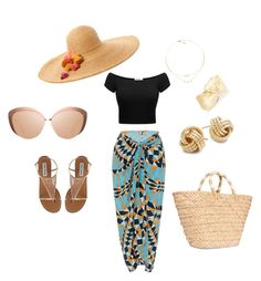 """Summer Fun"" by destinywdl on Polyvore featuring Flora Bella, Kayu, Lenny, Linda Farrow and Saks Fifth Avenue"