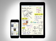 This app lets you take handwritten notes, sketch diagrams and  more.