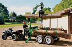Wallenstein Timber Talon Log Grapple Trailers - Wallenstein Outdoor Power Equipment Made in Canada