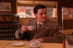 New party member! Tags: season 1 episode 7 twin peaks coffee showtime twinpeaks agent cooper double r diner