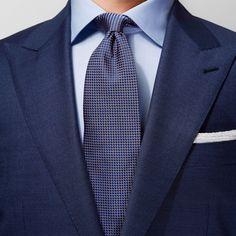 Signature Points De Brown Cravate En Soie Eton vaaDq