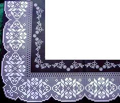 Filet Crochet, Crochet Borders, Crochet Diagram, Crochet Edgings, Crochet Dollies, Crochet Lace, Baby Shawl, Filets, Lace Trim