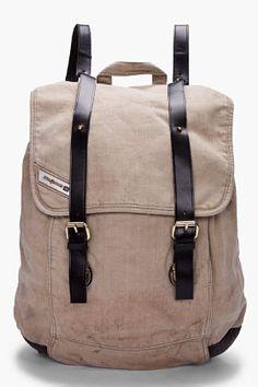 Diesel Taupe Backy Hob Backpack for Men   SSENSE