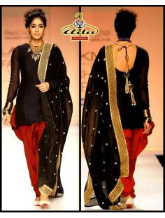 Sizzling Red /Black Patial Dress