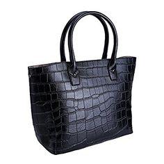 Fleeting Time Womens New Korean Style Fashion PU Leather Handbag(Black): Handbags: Amazon.com