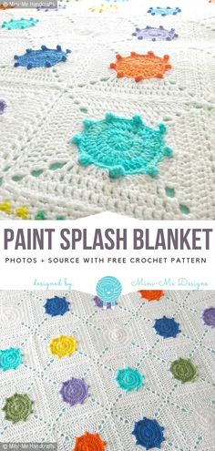 Paint Splash Blanket Free Crochet Pattern - Free Crochet Patterns