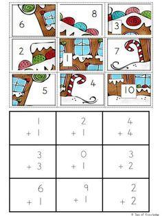 FREE Christmas Math Puzzles