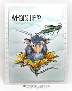 Coffee Break HMCR114 Stampendous House Mouse Cling Stamp