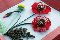 Quilled poppies step-by-step, part 3 at Inna's Creations Crafts, Kids, Quilling