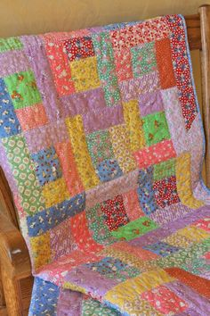 Baby Quilt 1930's Reproduction Fabrics Baby Girl by StaceyfaceBags, $125.00