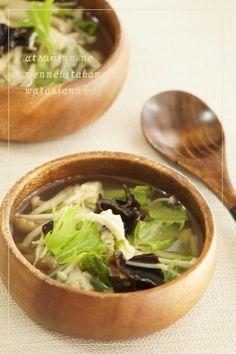 胃腸に優しい鶏胸肉ときのこのさっぱりスープ by 渥美真由美 | レシピ ...