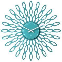 Modern Sunburst Wall Clock Teal $30 @ Target